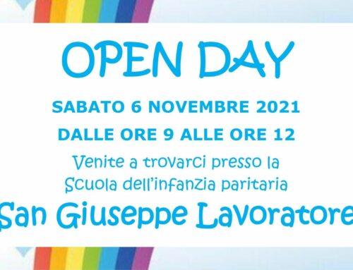 San Giuseppe Lavoratore – Sabato 6 Novembre 2021 OPEN DAY